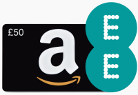 EE Amazon 50 pound gift card offer
