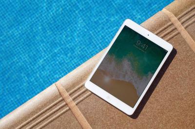 iPad by the pool
