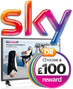 "Sky: Choose a £100 reward or an LG 32"" TV"