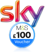 Sky with £100 M&S Voucher