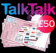 TalkTalk with £50 shopping voucher