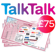 TalkTalk with £75 shopping voucher