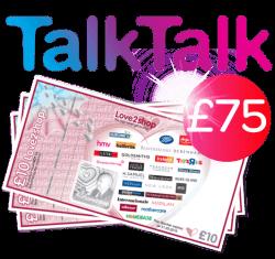 TalkTalk with £75 shopping voucher
