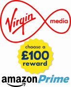 Virgin Media with Amazon Prime and a £100 reward choice